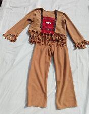 NICE RUNNING BULL KIDS SZ SMALL 2 PC NATIVE AMERICAN COSTUME HALLOWEEN DRESS UP