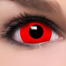 "Mini Sclera Lenses ""Red"" rote Kontaktlinsen Crazy Fun Farbige Halloween Linsen"