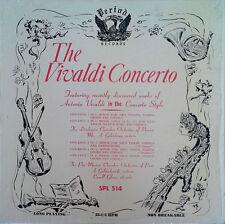 VIVALDI CONCERTO - CAROLL GLENN (VIOLIN) - PERIOD LP - STILL IN SHRINK WRAP