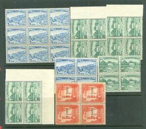 Pakistan Definitive 7 Block of 4 MNH Stamp Lot#7059