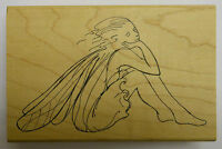 Dreaming Fairy Rubber Stamp by JudiKins