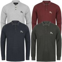 Tokyo Laundry Long Sleeve Polo Shirt Men's Cotton Casual Golf T-Shirt Top Plain