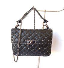 Valentino Rockstud Spike Black Medium Handle/Shoulder/Crossbody Bag