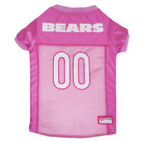 Chicago Bears NFL Pets First Licensed Dog Pet Mesh Pink Jersey XS-L NWT