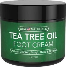 Tea Tree Oil Foot Cream - Instantly Hydrates and Moisturizes Cracked or Callused