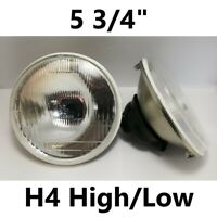 "1pr 5 3/4"" Semi Sealed Flat Headlights Hi/Lo Lancia Fulvia Lotus Esprit"