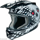Casque cross NOX N729 Tête de Mort noir moto enduro cross scooter quad dirt NEUF