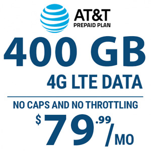 AT&T Hotspot 400 GB 4G LTE Data plan (Bring Your Own Device)