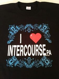 VINTAGE I LOVE INTERCOURSE PA NIGHT SHIRT GOWN 1990 ONE SIZE FITS ALL NWOT USA