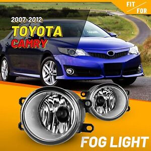 2Pcs Front Grills Bumper Driving Halogen Lamp Fog Lights For Toyota Camry 07-14