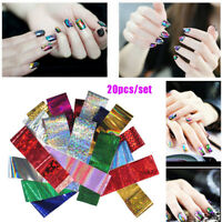 DIY Art Tips Nail Art Stickers Laser Transfer Holographic Starry Nail Foil