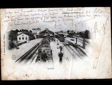 CHALONS-sur-MARNE (51) TRAIN en GARE animée en 1903