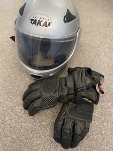 Mens Motorbike Helmet And Gloves