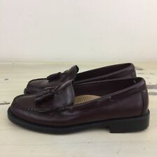 BASS MARIETTA - WEEJUNS Womens Oxblood Leather Tassel Slip-on Loafer Shoes, 6.5