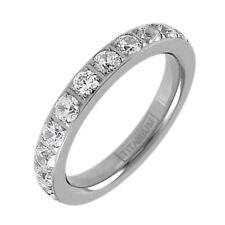 Titanium 1.7 Carat CZ Eternity Wedding Band Ring Size 5-10 (w/ half sizes)
