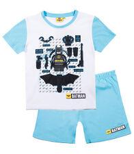 Boys LEGO BATMAN Short Sleeve Pyjamas T-shirt & Shorts, Age 4-10 OFFICIAL, 2017