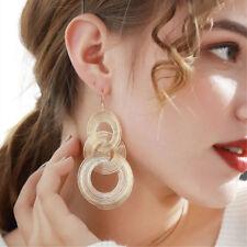 Boho Dangle Earrings Women Xmas Jewelry Fashion Round 3 Circles Geometry Earring
