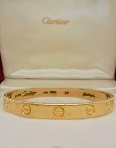 Authentic Vintage Cartier Aldo Cipullo Love Bracelet 18k Yellow Gold with Case