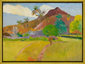 Framed Paul Gauguin Tahitian Landscape Giclee Canvas Print Paintings Poster