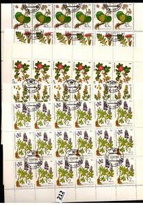 # 36X RUSSIA - CTO - NATURE - FLORA - FLOWERS - PLANTS - 1985 - SHEETS BENT