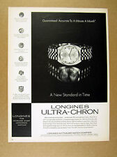 1968 Longines Ultra-Chron men's watch photo vintage print Ad