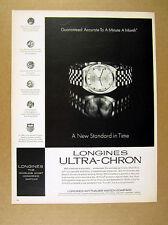 1968 Longines Ultra-Chron men's watch photo vintage print Ad