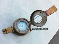 Brass Prismatic Compass London Army 1941 Antique Nautical Vintage Compass MK III