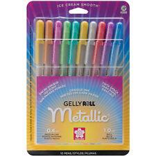 Sakura GELLY ROLL 10 METALLIC Pens 1.0mm ball Medium Line 57370 Brand NEW!