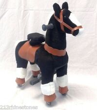 SMALL 'Giddy Up Ride' Horse/Pony Ride On  'BLACK'  Ages 2-5 Boys & Girl (01B)