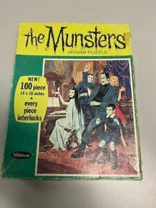 Vintage 1965 Whitman The MUNSTERS Jigsaw Puzzle - RARE! ~99 Piece TV Show Puzzle