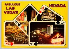 Fabulous Las Vegas, NEVADA Golden Nugget Dunes Sin City Continental Postcard New