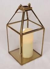 Metal Glass Golden Shiny Hanging Lantern candle holder Christmas decorations NEW