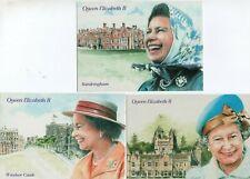 3 ART postcards:  H.M. THE QUEEN