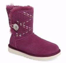 NWT UGG Australia Bailey Button Tehuano Genuine Shearling Boots Size Pink 7