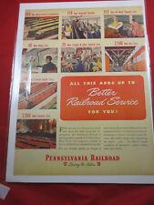 1948 PENNSYLVANIA RAILROAD BETTER SERVICE AD 1/4 billion in Equipment