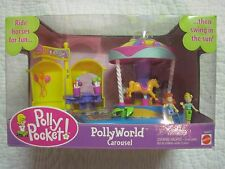 Polly Pocket World Amusement Park Carousel...New In The Box!!