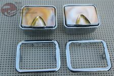 Impala Rear Quarter Chrome Ash Trays Bezels Chevelle GTO Cutlass Skylark Pontiac
