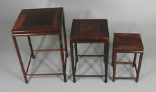 wooden display stand shelf red hard wood China rosewood 1 set 3PC square base