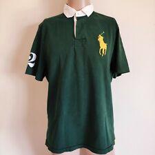 Polo Ralph Lauren Men's Green Big Pony Custom Fit Polo Shirt Size L