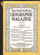 National Geographic April 1932 San Francisco Poland Turkey  FREE US S/H