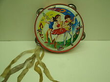 Vintage GoGo Kids Band metal toy tambourine - Made in Japan