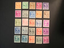 United States  803 - 829, the 1938 Presidential Stamps thru the 25 cent