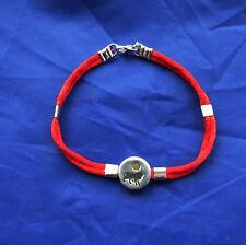 Red string bracelet combine with silver sterling beads-sign of zodiac - Leo