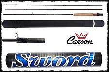 canna pesca a mosca sword + fodero rigido trota temolo torrente lago montagna