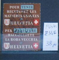 FRANCOBOLLI SVIZZERA USATI N°Z34F (F6371)