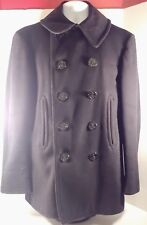 WW II U.S Navy Pea Coat Excellent Vintage Condition 10 Button 100% Wool EVC