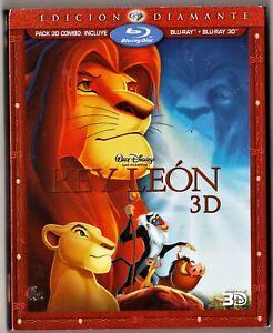 Walt Disney: EL REY LEÓN 3D y 2D combo Blu-Ray y Blu-ray 3D.