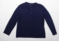 TU Mens Size XL Cotton Blue Long Sleeve T-Shirt