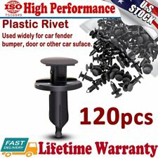 120Pcs Hole Plastic Rivet Fastener Push Clips Retainer Clip for Car Auto Fender