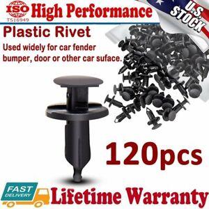 120Pcs Hole Plastic Rivet Fastener Push Clips Retainer Clip for Car Auto Fender